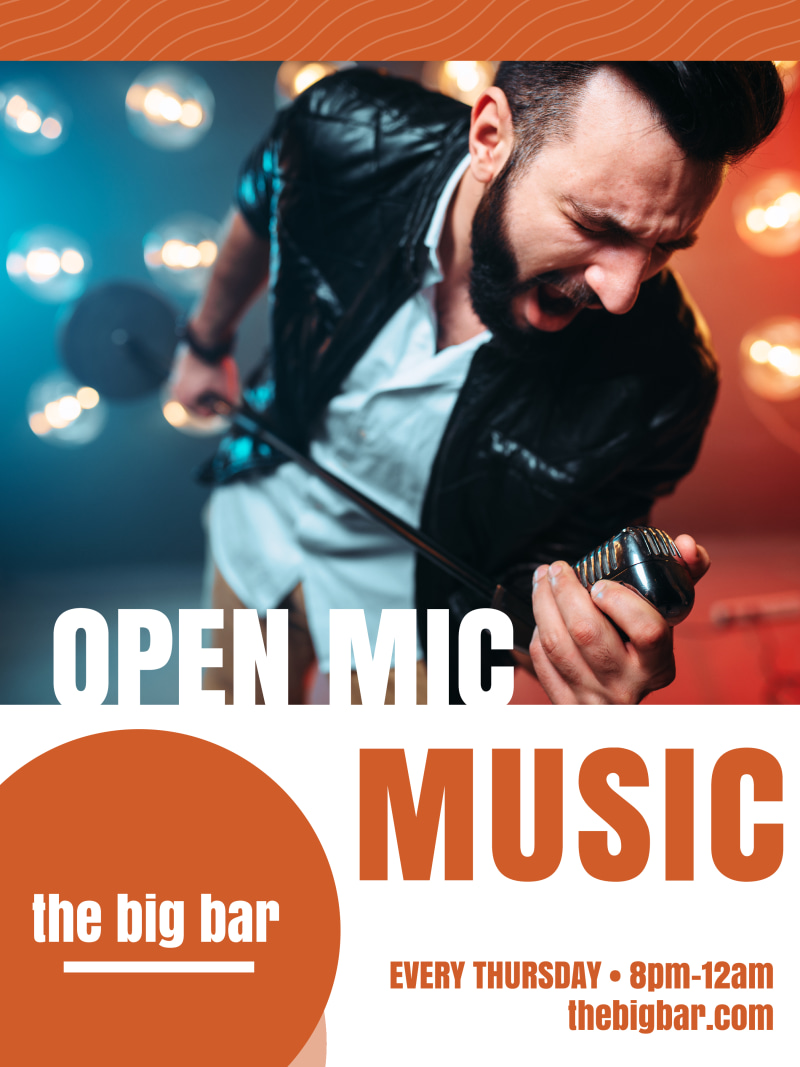 Open Mic Poster Template Preview 2