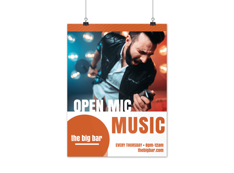 Open Mic Poster Template Preview 1