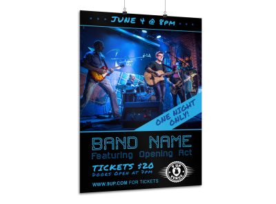 Band Night Poster Template preview