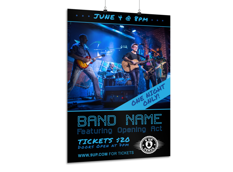 Band Night Poster Template