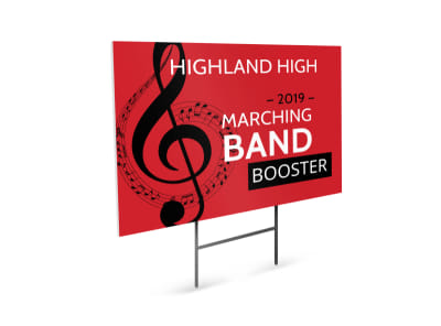 Marching Band Yard Sign Template preview