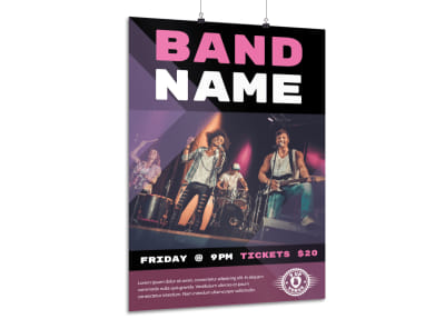 Classic Band Name Poster Template preview