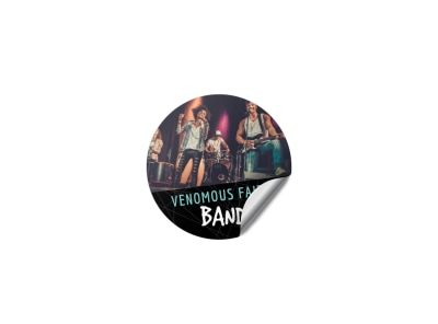 Rock Band Sticker Template preview