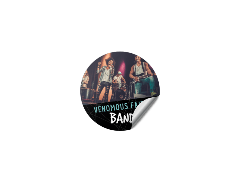 Rock Band Sticker Template Preview 1