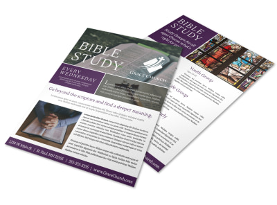 Classic Bible Study Flyer Template preview