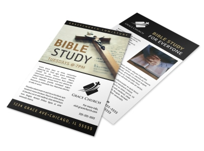 Simple Bible Study Flyer Template preview
