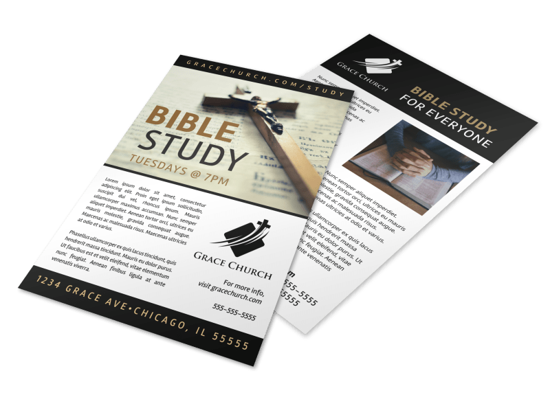 Simple Bible Study Flyer
