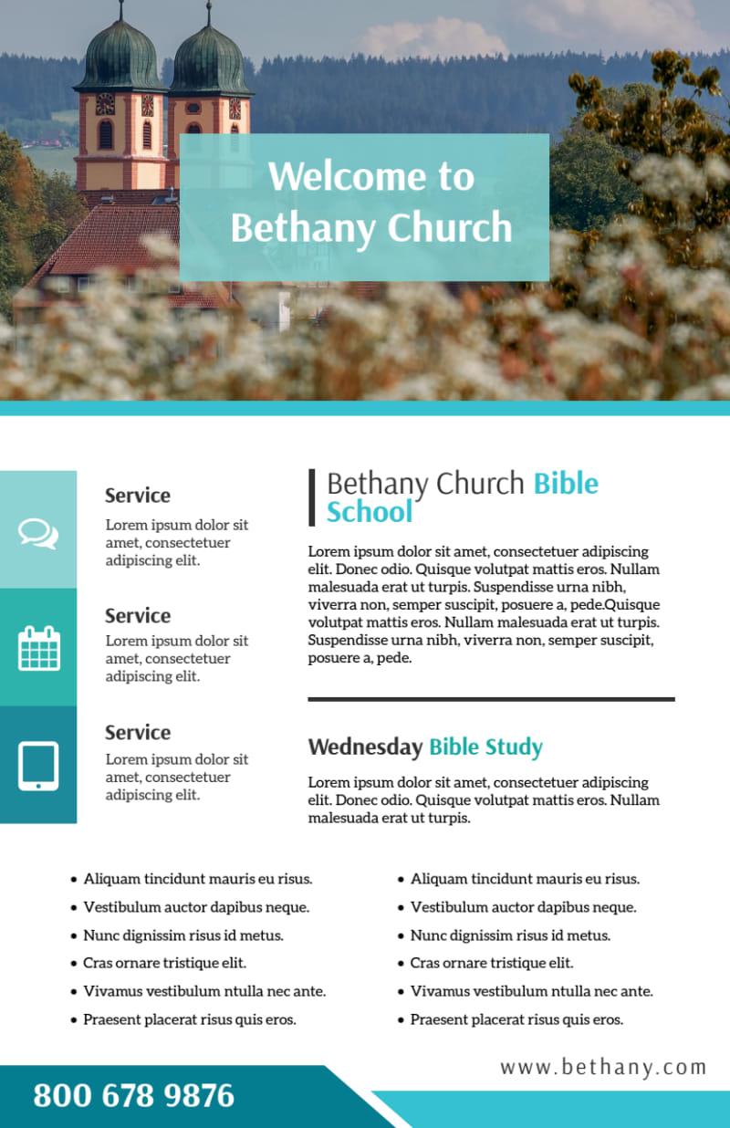 Bible School Flyer Template Preview 2