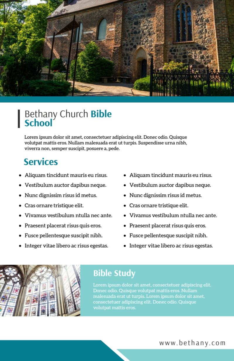 Bible School Flyer Template Preview 3