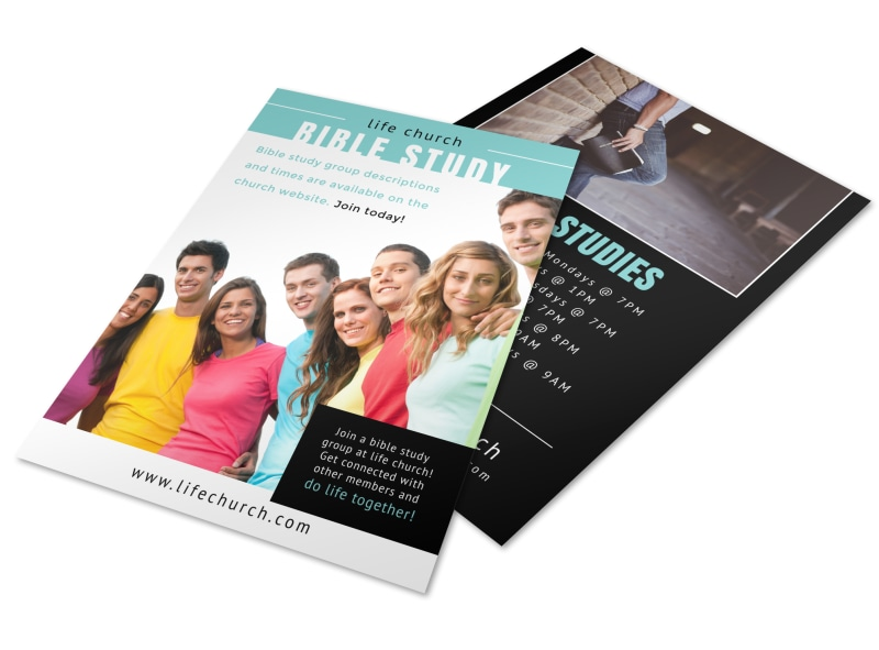 Church Bible Study Flyer Template Preview 4
