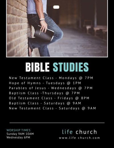 Church Bible Study Flyer Template Preview 2