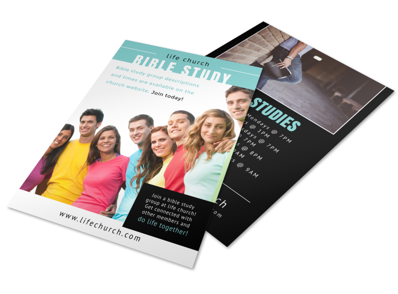 Church Bible Study Flyer Template Preview 1