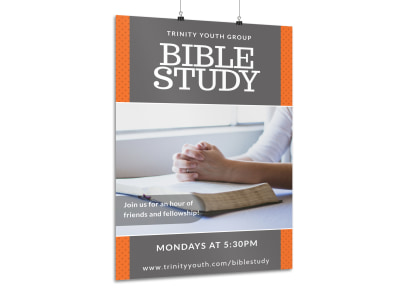 Youth Bible Study Poster Template preview