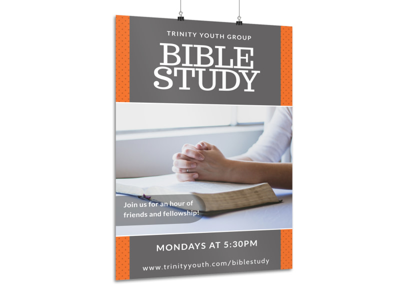 Youth Bible Study Poster Template