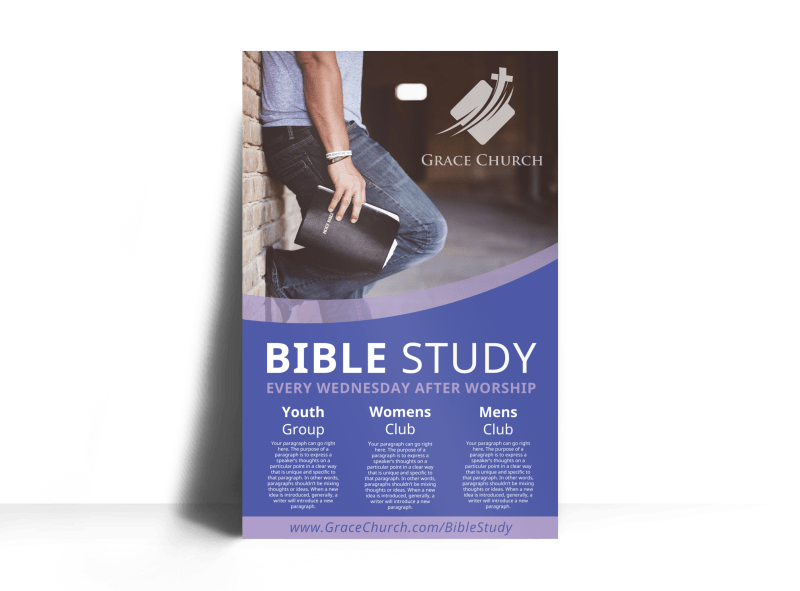 Awesome Bible Study Poster