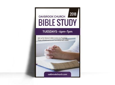 Church Bible Study Poster Template