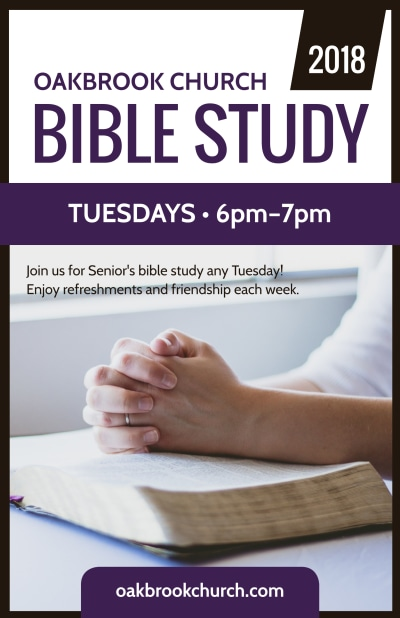 Church Bible Study Poster Template Preview 1