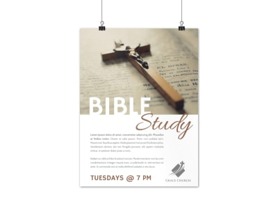 Simple Bible Study Poster Template preview