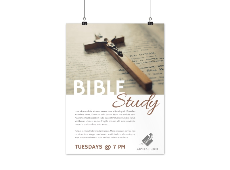 Simple Bible Study Poster Template