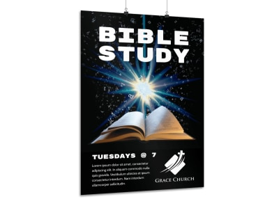 Bible Study Class Poster Template preview