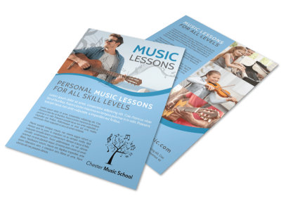 Personal Music Lessons Flyer Template preview