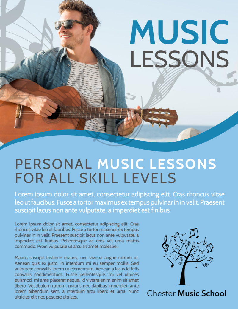 Personal Music Lessons Flyer Template Preview 2