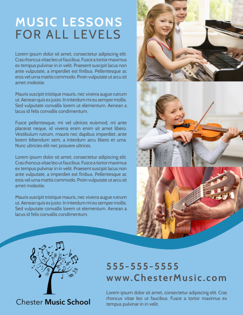 Personal Music Lessons Flyer Template Preview 3
