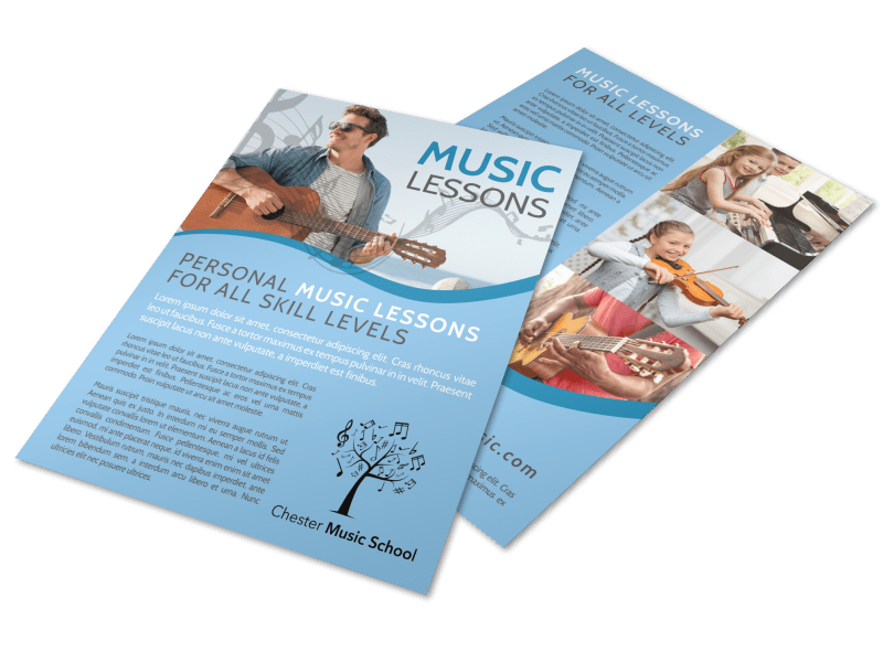 Personal Music Lessons Flyer Template Preview 1