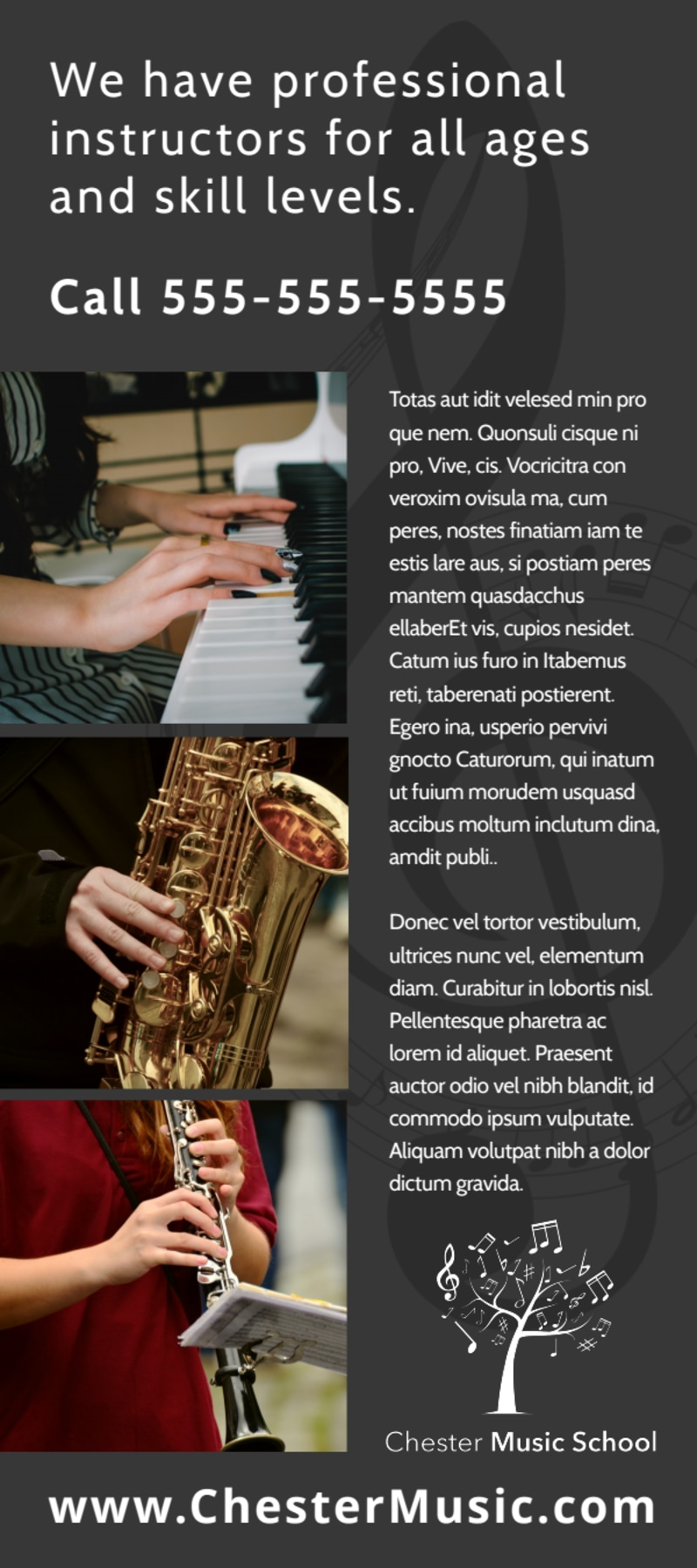 Classic Music Lessons Flyer Template Preview 3