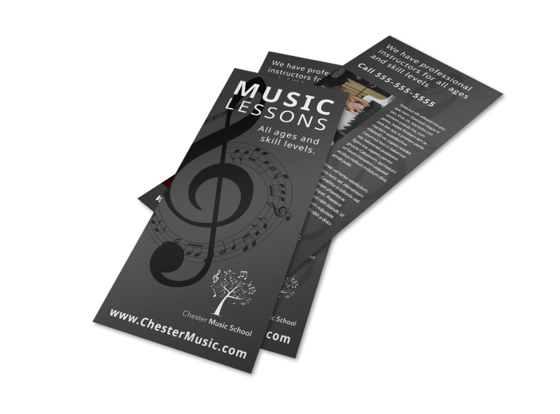 Classic Music Lessons Flyer Template Preview 1