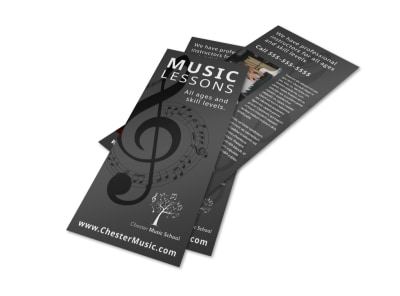 Classic Music Lessons Flyer Template preview