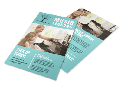 Music Lesson Sign Up Flyer Template preview
