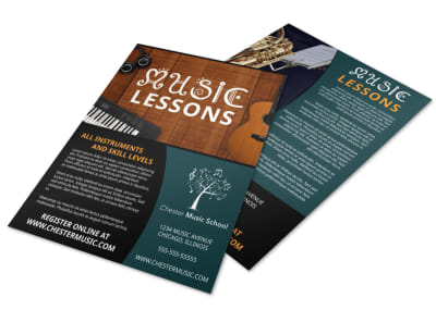 Beautiful Music Lesson Flyer Template preview