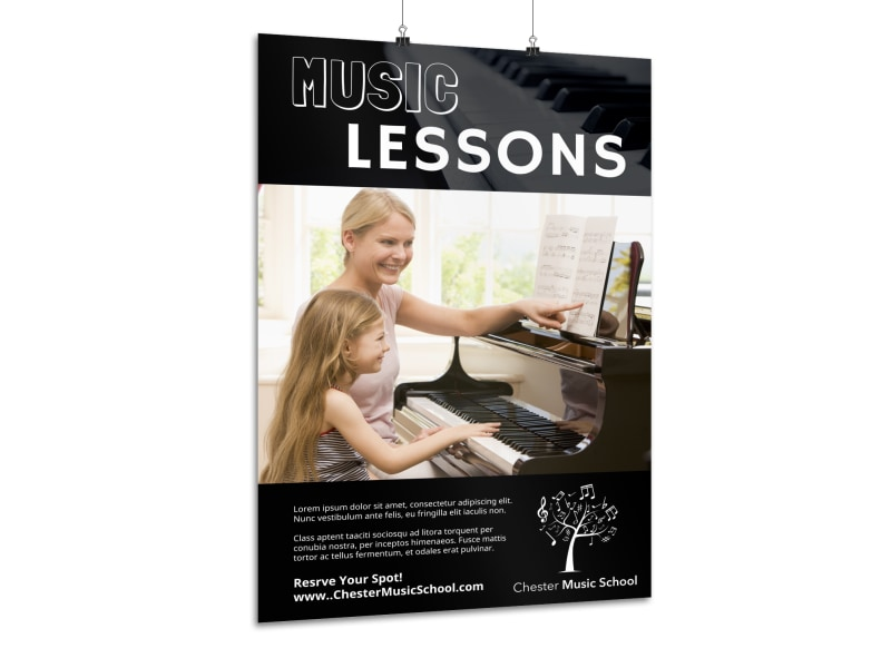 Music Lessons Poster Template