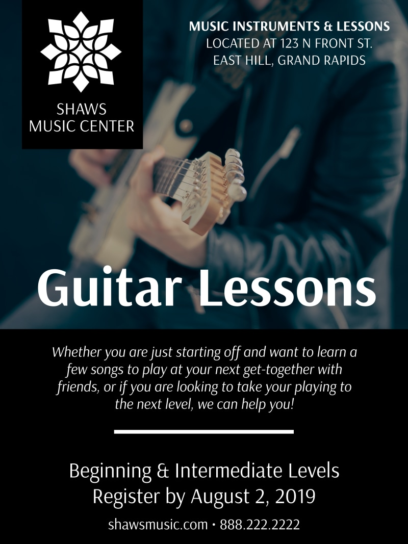 Guitar Lessons Poster Template Preview 2
