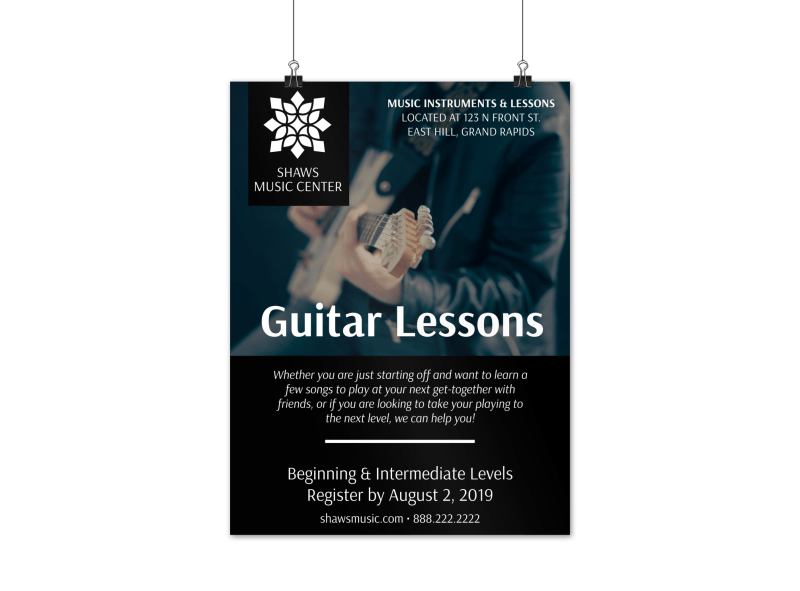 Guitar Lessons Poster Template Preview 1