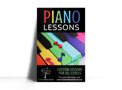 Piano Lesson Poster Template preview