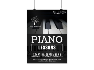 Piano Lessons Poster Template preview