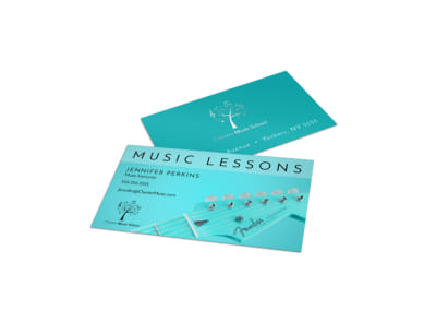 Beautiful Music Lesson Business Card Template preview