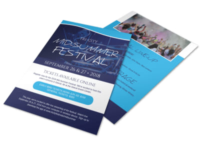 Mid-Summer Festival Flyer Template preview