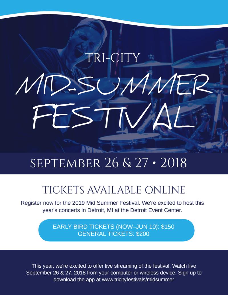 Mid-Summer Festival Flyer Template   MyCreativeShop