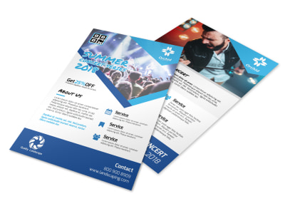 Summer Concert Series Flyer Template preview