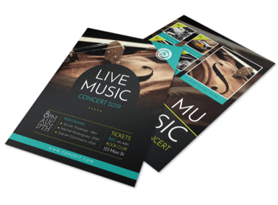 Stunning Music Concert Flyer Template preview