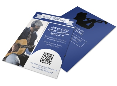 Blues Concert Flyer Template preview