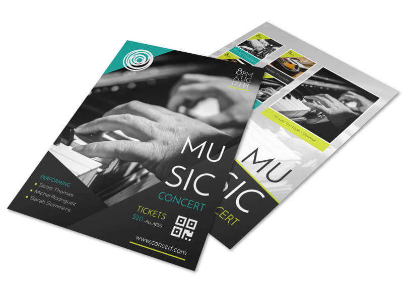Creative Music Concert Flyer Template