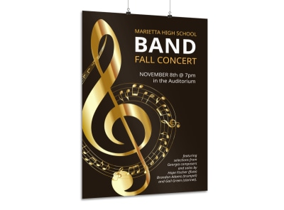 Band Fall Concert Poster Template preview
