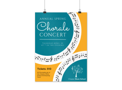 Annual Music Concert Poster Template preview