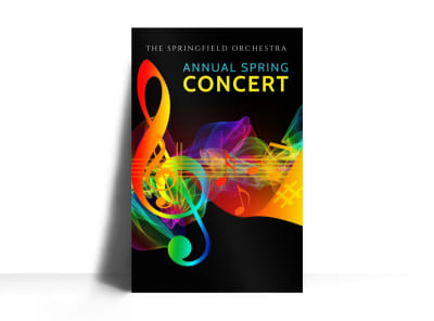 Annual Spring Concert Poster Template