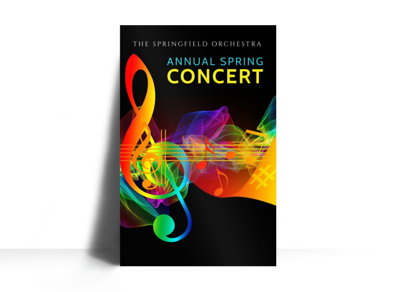 annual spring concert poster template mycreativeshop