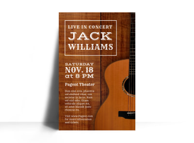 Live Country Concert Poster Template
